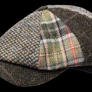 Wigens Newsboy Classic Cap in Brown Multi Plaid
